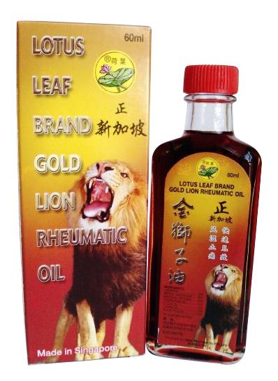 Dầu sư tử lá sen Singapore, chai 60 ml